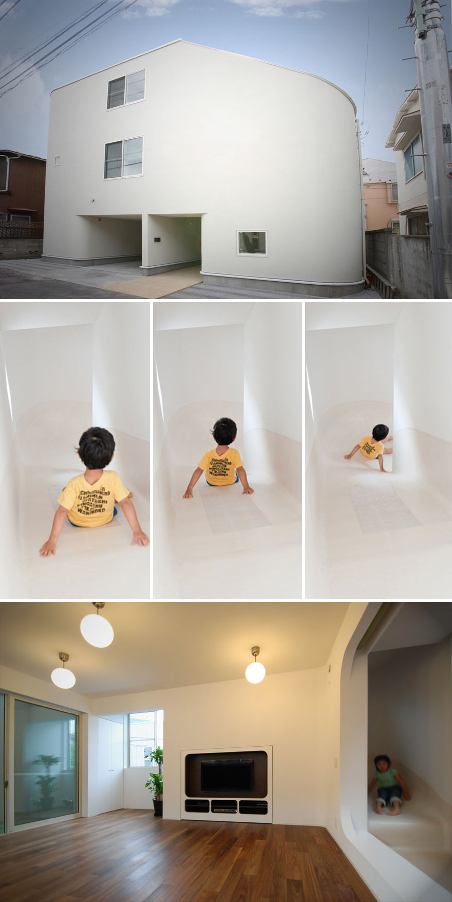 Slide House insolite au Japon