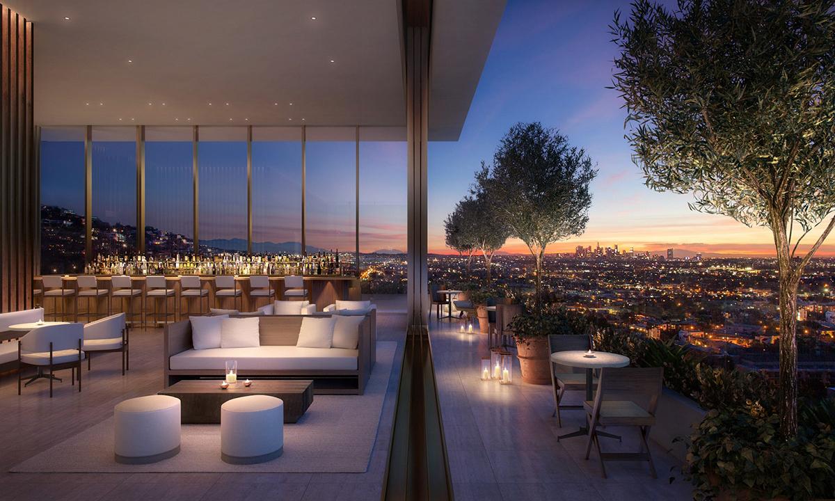 The West Hollywood Edition (California) hôtel design